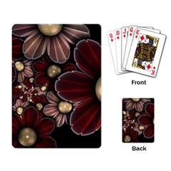 Flower Background Line Playing Card by amphoto