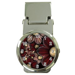Flower Background Line Money Clip Watches by amphoto