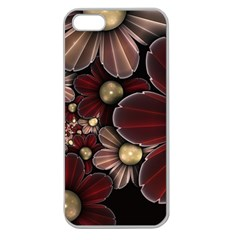 Flower Background Line Apple Seamless Iphone 5 Case (clear) by amphoto