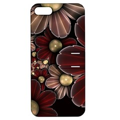 Flower Background Line Apple Iphone 5 Hardshell Case With Stand by amphoto
