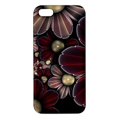 Flower Background Line Apple Iphone 5 Premium Hardshell Case by amphoto