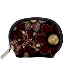 Flower Background Line Accessory Pouches (small)  by amphoto