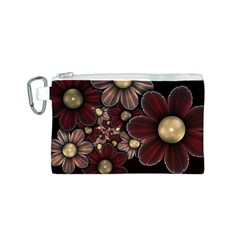 Flower Background Line Canvas Cosmetic Bag (s) by amphoto