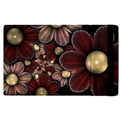 Flower Background Line Apple Ipad Pro 12 9   Flip Case by amphoto