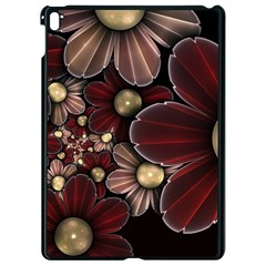 Flower Background Line Apple Ipad Pro 9 7   Black Seamless Case by amphoto