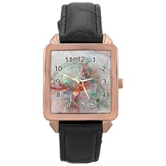 Shroud Clot Light  Rose Gold Leather Watch  by amphoto