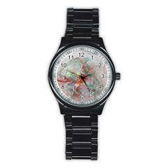 Shroud Clot Light  Stainless Steel Round Watch by amphoto