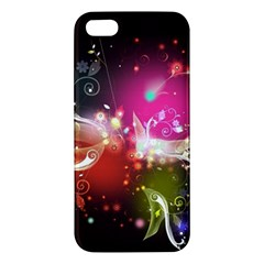 Plant Patterns Colorful  Apple Iphone 5 Premium Hardshell Case by amphoto