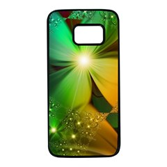 Flowers Petals Colorful  Samsung Galaxy S7 Black Seamless Case by amphoto