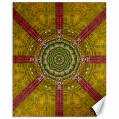 Mandala In Metal And Pearls Canvas 16  X 20   by pepitasart