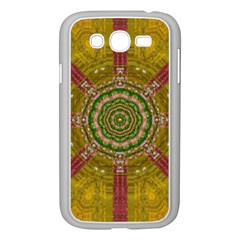 Mandala In Metal And Pearls Samsung Galaxy Grand Duos I9082 Case (white) by pepitasart