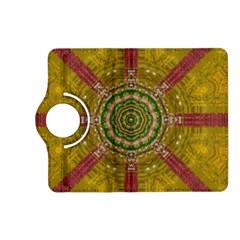 Mandala In Metal And Pearls Kindle Fire Hd (2013) Flip 360 Case by pepitasart