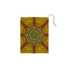 Mandala In Metal And Pearls Drawstring Pouches (xs)