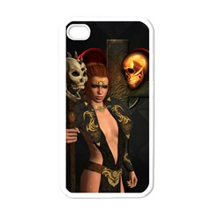 The Dark Side, Women With Skulls In The Night Apple Iphone 4 Case (white) by FantasyWorld7
