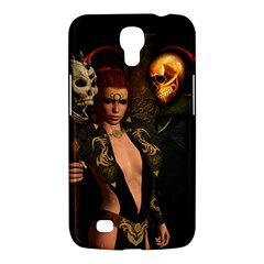 The Dark Side, Women With Skulls In The Night Samsung Galaxy Mega 6 3  I9200 Hardshell Case by FantasyWorld7