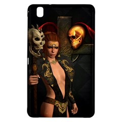 The Dark Side, Women With Skulls In The Night Samsung Galaxy Tab Pro 8 4 Hardshell Case by FantasyWorld7
