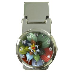 Flower Background Colorful Money Clip Watches by amphoto