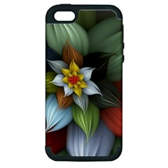 Flower Background Colorful Apple Iphone 5 Hardshell Case (pc+silicone) by amphoto