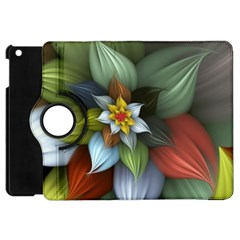 Flower Background Colorful Apple Ipad Mini Flip 360 Case by amphoto