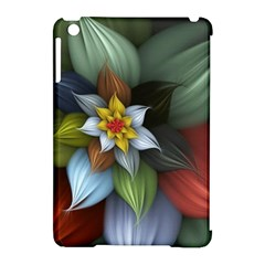 Flower Background Colorful Apple Ipad Mini Hardshell Case (compatible With Smart Cover) by amphoto