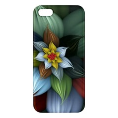 Flower Background Colorful Apple Iphone 5 Premium Hardshell Case by amphoto