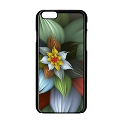 Flower Background Colorful Apple Iphone 6/6s Black Enamel Case by amphoto