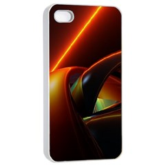 Line Figure Background  Apple Iphone 4/4s Seamless Case (white) by amphoto