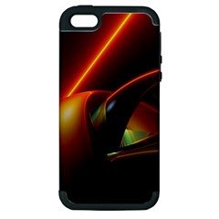 Line Figure Background  Apple Iphone 5 Hardshell Case (pc+silicone) by amphoto