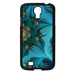 Fractal Flower White Samsung Galaxy S4 I9500/ I9505 Case (black) by amphoto