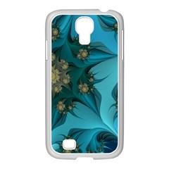 Fractal Flower White Samsung Galaxy S4 I9500/ I9505 Case (white) by amphoto