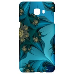 Fractal Flower White Samsung C9 Pro Hardshell Case  by amphoto