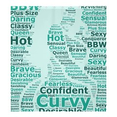 Belicious World Curvy Girl Wordle Shower Curtain 66  X 72  (large)  by beliciousworld