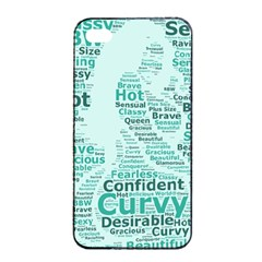 Belicious World Curvy Girl Wordle Apple Iphone 4/4s Seamless Case (black) by beliciousworld