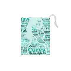 Belicious World Curvy Girl Wordle Drawstring Pouches (xs)  by beliciousworld