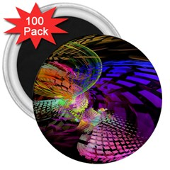 Fractal Patterns Background  3  Magnets (100 Pack) by amphoto