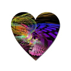 Fractal Patterns Background  Heart Magnet by amphoto