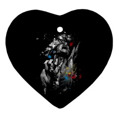 Man Rage Screaming  Ornament (heart) by amphoto
