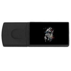 Man Rage Screaming  Rectangular Usb Flash Drive by amphoto