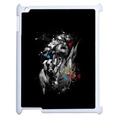 Man Rage Screaming  Apple Ipad 2 Case (white) by amphoto