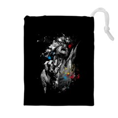 Man Rage Screaming  Drawstring Pouches (extra Large) by amphoto