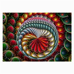Circles Lines Background  Large Glasses Cloth (2 Side) by amphoto