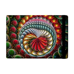 Circles Lines Background  Apple Ipad Mini Flip Case by amphoto