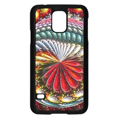 Circles Lines Background  Samsung Galaxy S5 Case (black) by amphoto
