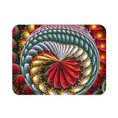 Circles Lines Background  Double Sided Flano Blanket (mini)  by amphoto