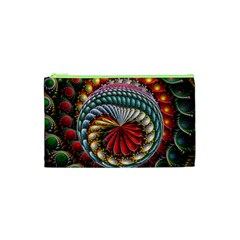 Circles Lines Background  Cosmetic Bag (xs) by amphoto