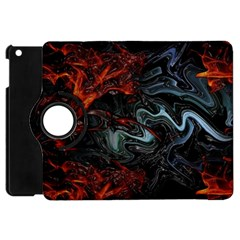 Lines Curves Background  Apple Ipad Mini Flip 360 Case by amphoto