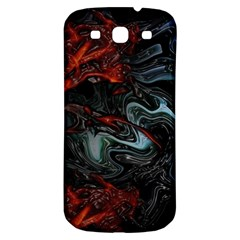 Lines Curves Background  Samsung Galaxy S3 S Iii Classic Hardshell Back Case by amphoto