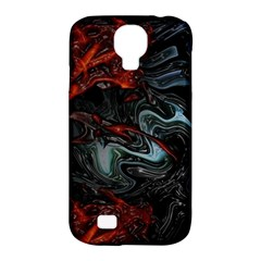 Lines Curves Background  Samsung Galaxy S4 Classic Hardshell Case (pc+silicone) by amphoto