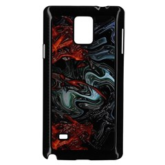 Lines Curves Background  Samsung Galaxy Note 4 Case (black) by amphoto