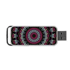 Circles Background Lines  Portable Usb Flash (two Sides) by amphoto